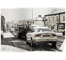 Audi In The Snow Poster