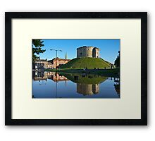 Clifford's Tower, York, in Flood Framed Print