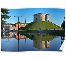 Clifford's Tower, York, in Flood Poster
