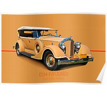 1934 Packard Touring Super Eight w/ID Poster