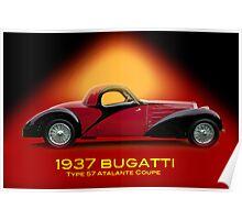 1937 Bugatti Type 57 SC Atalante Coupe w/ID Poster