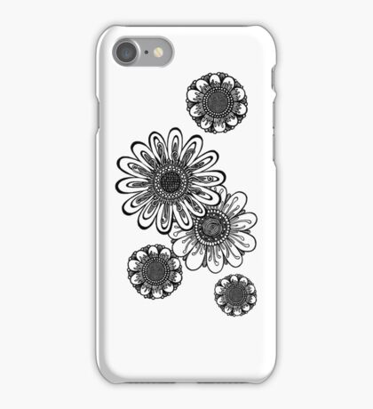 Inked Gerber Daisies iPhone Case/Skin