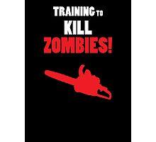 Training to Kill Zombies! Photographic Print