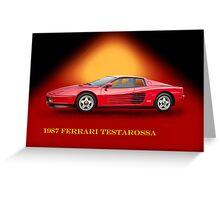1987 Ferrari Testarossa w/ID Greeting Card