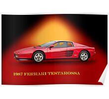 1987 Ferrari Testarossa w/ID Poster