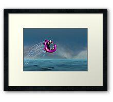 Mad Pink Fish Crazy Jump Framed Print