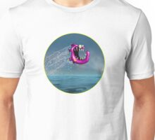 Mad Pink Fish Crazy Jump Unisex T-Shirt