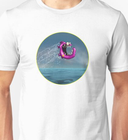 Mad Pink Fish Crazy Jump Unisex T-Shirt