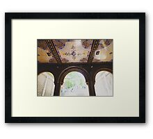 Bethesda Terrace in Central Park Framed Print