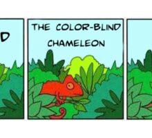 LEONARD the color-blind chameleon Sticker