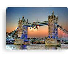 London Tower Bridge Sunset Canvas Print
