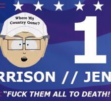 Garrison For President Sticker