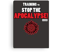 The Winchesters - Training to Stop the Apocalypse! Canvas Print