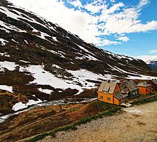 Beautiful houses in the mountains by adng