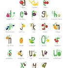 Alphabet Fruit by Holly Hatam