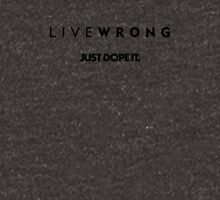 LIVEWRONG (black on yellow) Unisex T-Shirt
