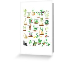 Alphabet Veggies Greeting Card