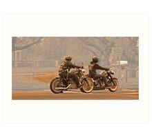 Vintage bikers Art Print