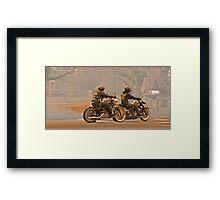Vintage bikers Framed Print