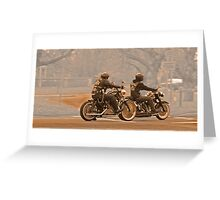 Vintage bikers Greeting Card