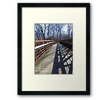 Cross Over the Bridge Framed Print