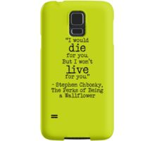 """Perks of Being a Wallflower - """"And in that moment, I swear... we were infinite."""" Samsung Galaxy Case/Skin"""