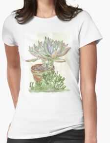 "Graptoveria ""Fred Ives"" Womens Fitted T-Shirt"