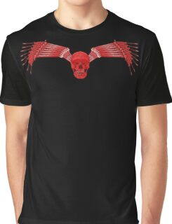 red and black tool wing and skull Graphic T-Shirt