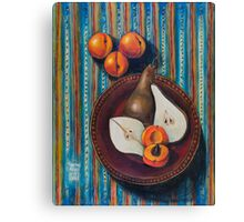 Bosc Pears and Apricots for Elaine Canvas Print