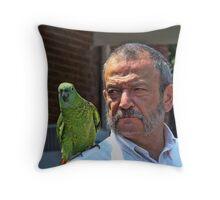 Parrot And Best Friend Throw Pillow