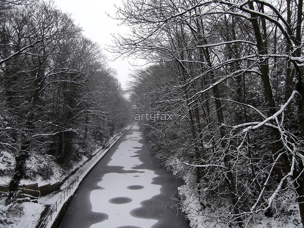 Frozen Canal scene by artyfax
