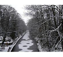 Frozen Canal scene Photographic Print