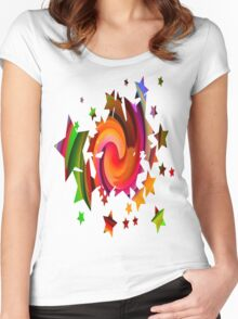 Colour Me A Rainbow-Available As Art Prints-Mugs,Cases,Duvets,T Shirts,Stickers,etc Women's Fitted Scoop T-Shirt