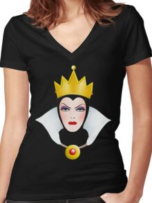 Evil Queen  Women's Fitted V-Neck T-Shirt