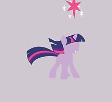 Simple Twilight Sparkle iPhone Case by TehCrimzonColt
