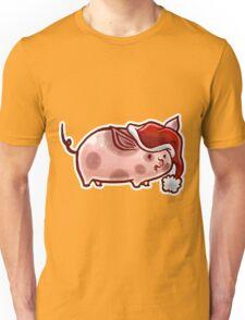 Holiday Pig Unisex T-Shirt