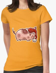 Holiday Pig Womens Fitted T-Shirt