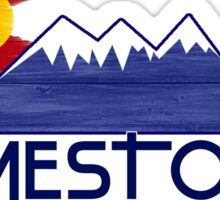 Jamestown Colorado wood mountains Sticker