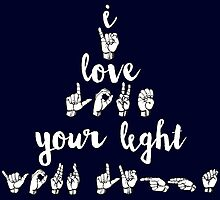 I Love Your Light - Navy by maddy b