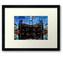 manchester central 4a Framed Print