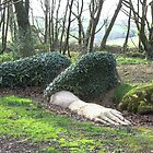 Mud Maid, lost gardens of Heligan by Mark Baldwyn