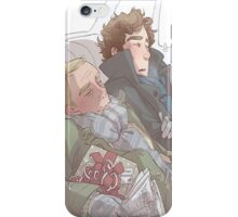 John and Sherlock from Sherlock Holmes  iPhone Case/Skin