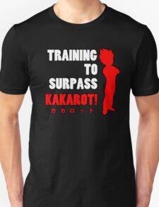 Vegeta - Training to Surpass Kakarot! 2.0 T-Shirt