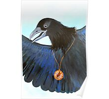 the Messenger black crow with compass painting Poster