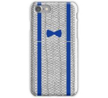 11th Doctor -  Bow-tie and Braces (Blue) iPhone Case/Skin
