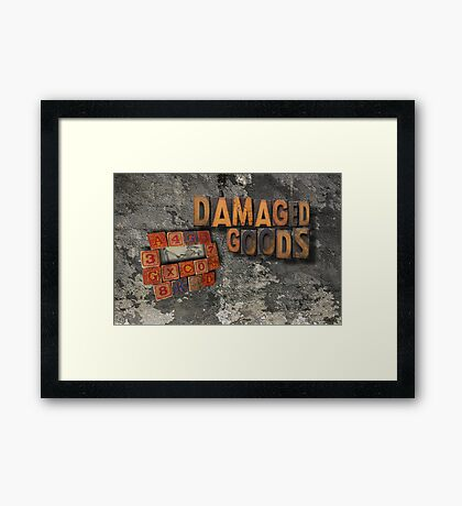 damaged goods calendar front cover Framed Print