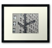 Corner of Broadway and Wall Framed Print