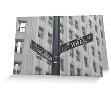 Corner of Broadway and Wall Greeting Card