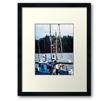 Santa Is On Board - Florence Oregon Framed Print