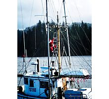 Santa Is On Board - Florence Oregon Photographic Print